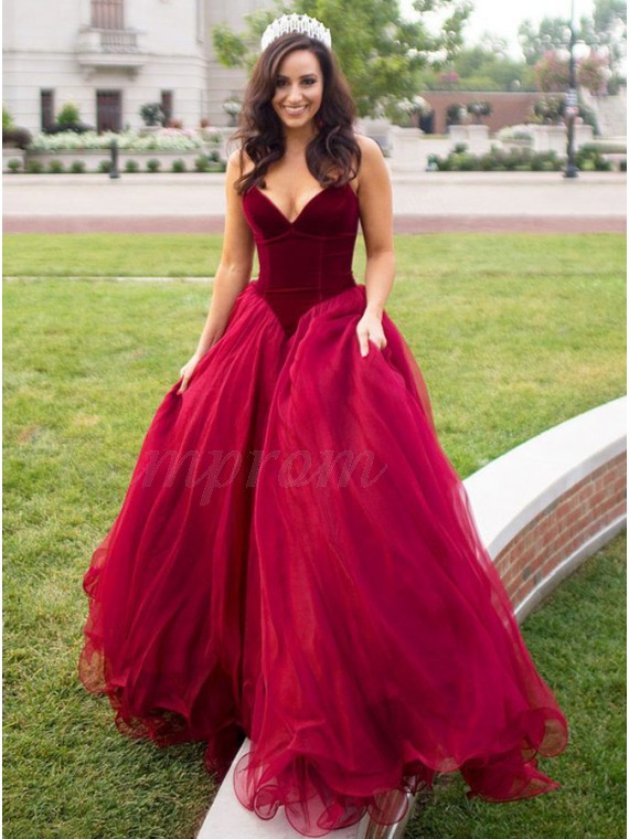 A-Line Sweetheart Sleeveless Burgundy Sexy Prom Dress with Pleats