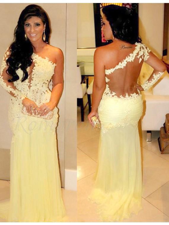 Light Yellow Prom Dresses