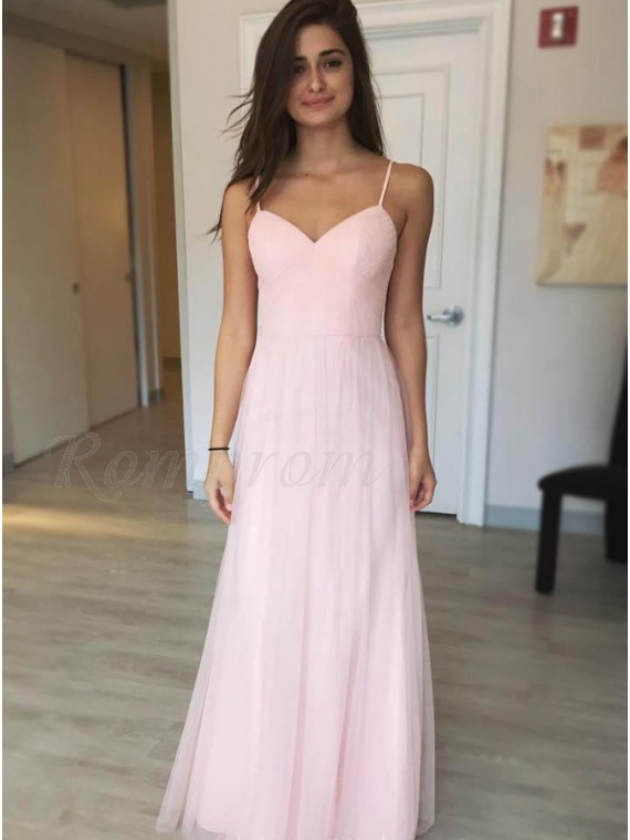 Chiffon Prom Dress with Straps