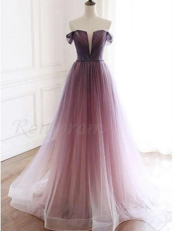 Gradient Long Prom Dress