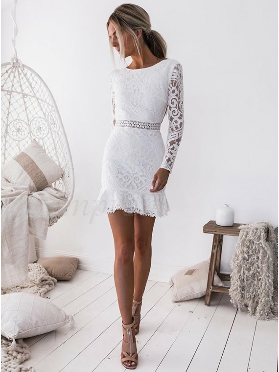 Sheath Long Sleeve Dress
