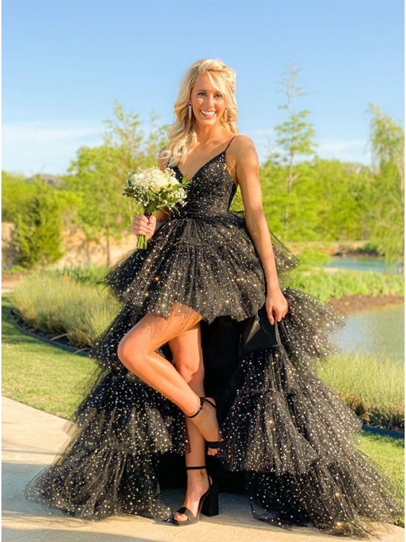 Black High Low Princess Prom Dress