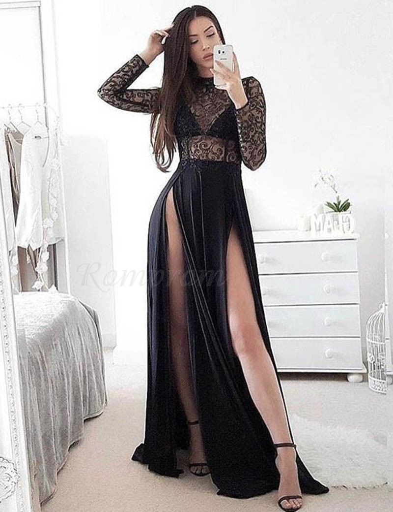 d54e26729a Long Prom Dresses With Lace Sleeves - Gomes Weine AG