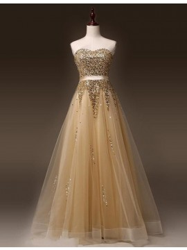 A-line Crew Neck Illusion Back Long White Prom Dress with Beading Appliques