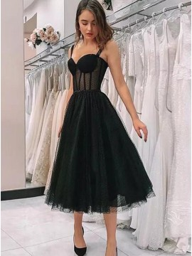 Vintage Short Black Homecoming Party Dresses