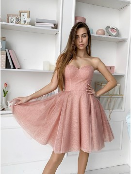 Chic Sweetheart Short Homecoming Dress Pink Party Dress