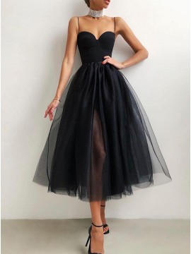 Tulle Simple Sweetheart Graduation Dress